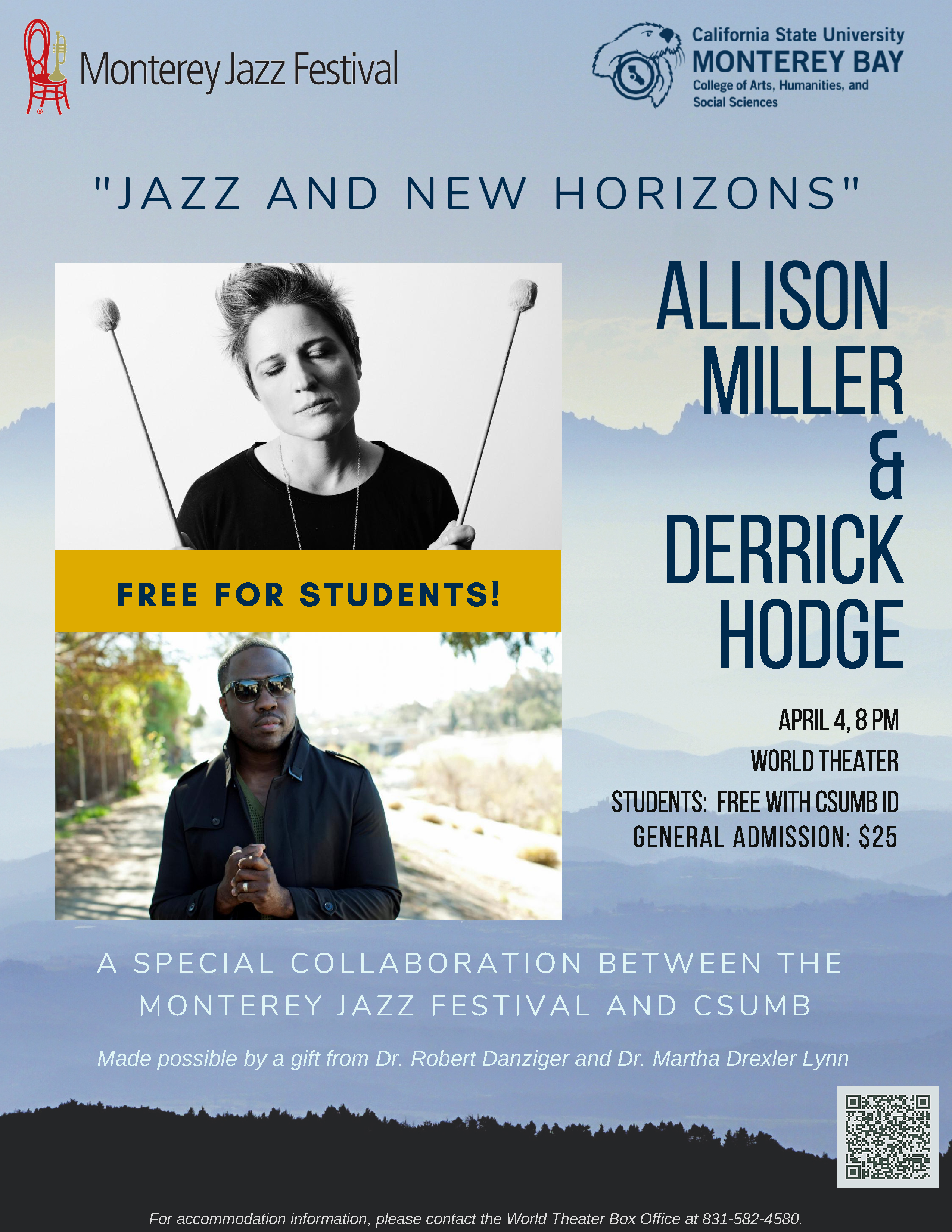 Allison Miller Videos jazz and new horizons concert at csumb's world theater